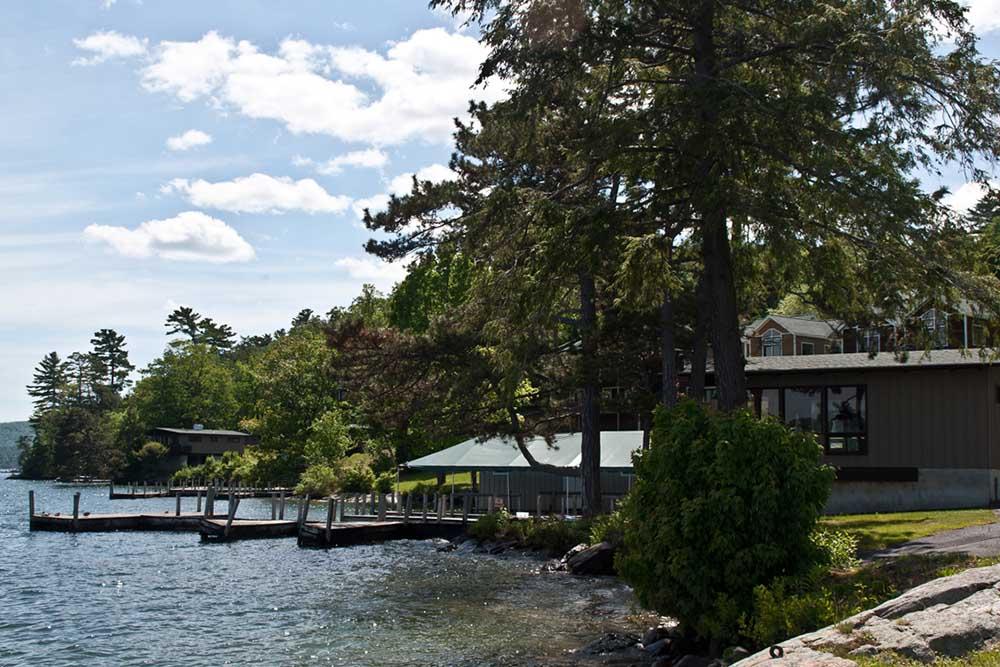 Lakeside with docks