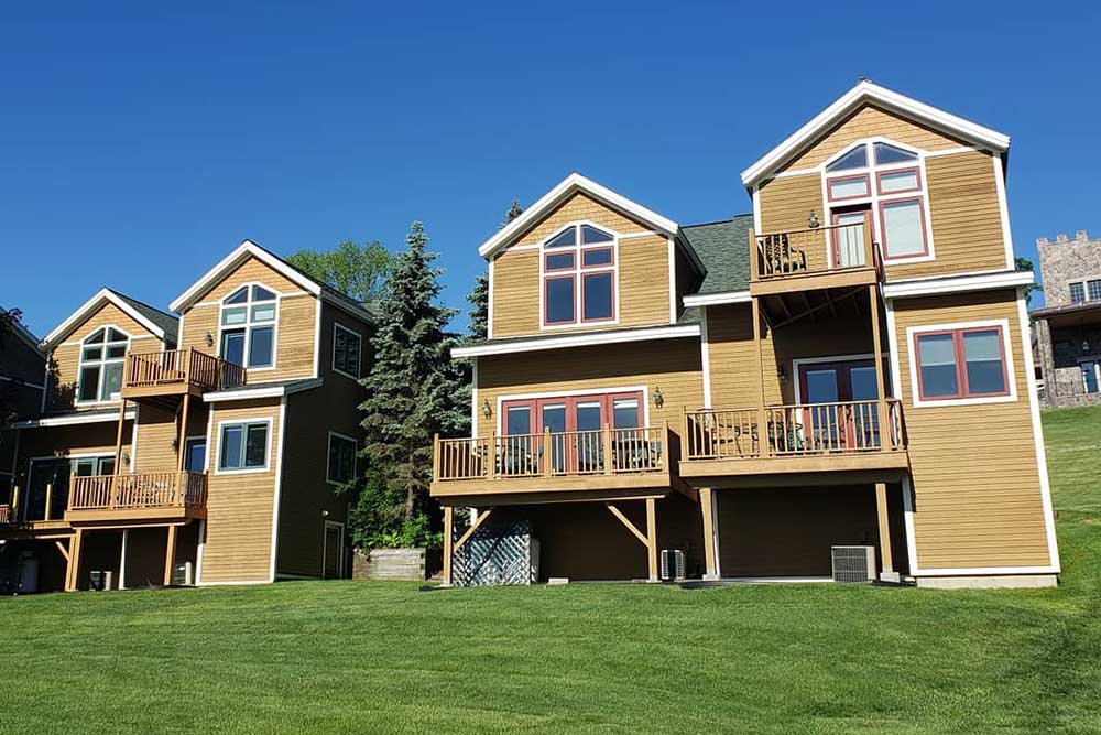 townhomes with decks