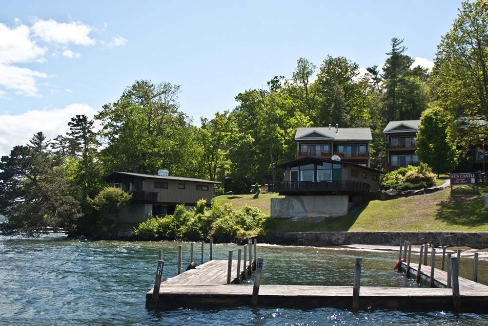 Docks and lake front villas