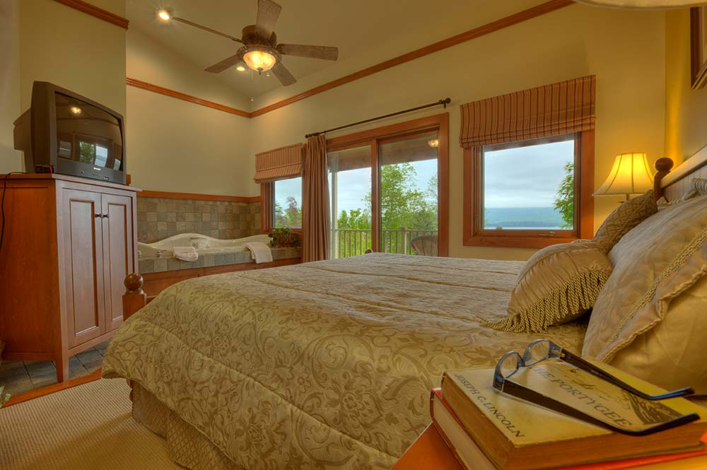 Bedroom with jacuzzi tub