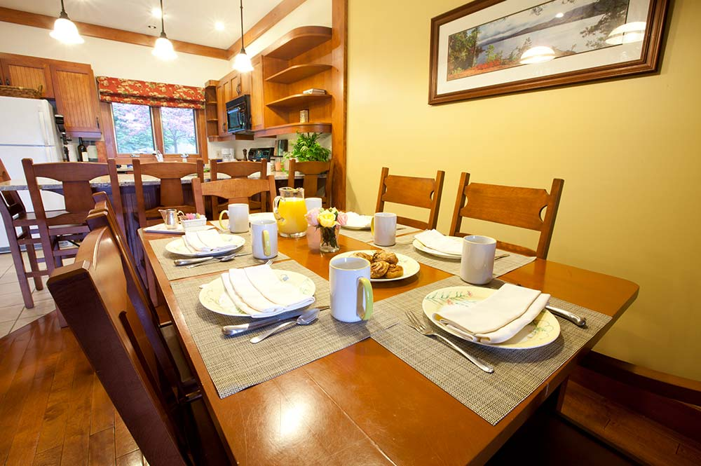 dining table set for breakfast